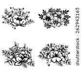 flower set   Shutterstock .eps vector #262943165