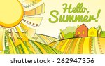hello summer. vector background ... | Shutterstock .eps vector #262947356