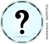 question mark sign icon  vector ... | Shutterstock .eps vector #262947512