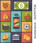 money and finance icons vector... | Shutterstock .eps vector #262947536