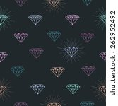 vector seamless pattern with... | Shutterstock .eps vector #262952492