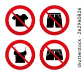 no  ban or stop signs. clothes... | Shutterstock .eps vector #262960826