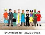 children kids dream jobs... | Shutterstock . vector #262964486
