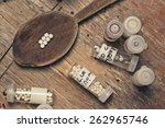 bottles with homeopathy...   Shutterstock . vector #262965746