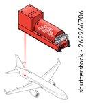 a flight data recorder. diagram ... | Shutterstock .eps vector #262966706