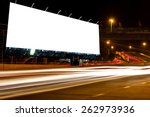 billboard blank for outdoor... | Shutterstock . vector #262973936