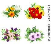 flower set | Shutterstock .eps vector #262974575