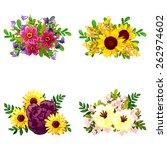 flower set | Shutterstock .eps vector #262974602