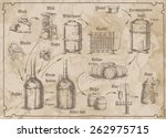 freehand drawing of the brewery ... | Shutterstock .eps vector #262975715