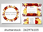 wedding invitation cards with... | Shutterstock .eps vector #262976105