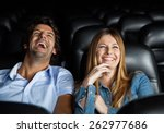 mid adult couple laughing while ... | Shutterstock . vector #262977686
