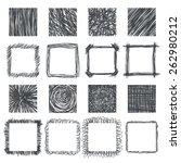 Set Of Hand Drawn Squares....