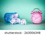 retro and vintage style of old... | Shutterstock . vector #263006348