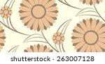 flower seamless rectangle | Shutterstock .eps vector #263007128