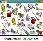 cartoon illustration of finding ... | Shutterstock . vector #263024525