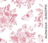 seamless vector vintage pattern ... | Shutterstock .eps vector #263025992