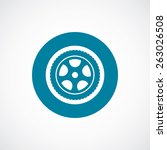 car wheel icon bold blue circle ... | Shutterstock . vector #263026508