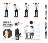 infographic office syndrome... | Shutterstock .eps vector #263033405