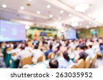 abstract blurred people lecture ... | Shutterstock . vector #263035952