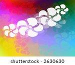 Funky rainbow hawaiian theme page design illustration - stock photo