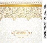 vector ornate seamless border...   Shutterstock .eps vector #263068406