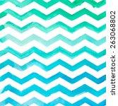 watercolor blue striped pattern ... | Shutterstock .eps vector #263068802