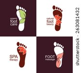 Set Of Footprint Icons And...