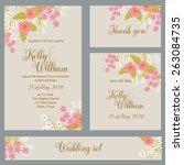 wedding invitation  thank you...   Shutterstock .eps vector #263084735