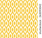 seamless yellow enhanced ikat... | Shutterstock . vector #263093042