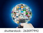 television broadcast multimedia ... | Shutterstock . vector #263097992