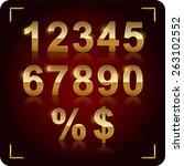 set of vector numbers  from 1... | Shutterstock .eps vector #263102552