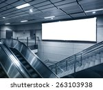 horizontal billboard in subway...   Shutterstock . vector #263103938