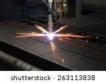 industrial cnc plasma cutting...   Shutterstock . vector #263113838