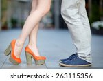 closeup photo of male and... | Shutterstock . vector #263115356
