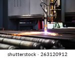 industrial cnc plasma machine... | Shutterstock . vector #263120912