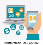 social media design  vector... | Shutterstock .eps vector #263121902