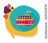 transportation ferry flat icon... | Shutterstock .eps vector #263124578