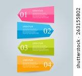 infographics template for... | Shutterstock .eps vector #263155802
