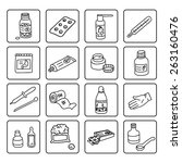 set of medicine linear icons | Shutterstock .eps vector #263160476