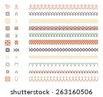 repeating borders set   main... | Shutterstock .eps vector #263160506