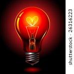 Vector Bulb  Love Concept
