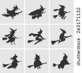 witch icon great for any use.... | Shutterstock .eps vector #263171132