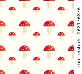 seamless pattern with toxic... | Shutterstock .eps vector #263176376