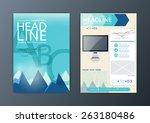 a4 abstract background modern... | Shutterstock .eps vector #263180486