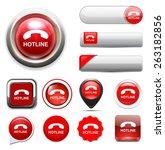 hotline button | Shutterstock .eps vector #263182856