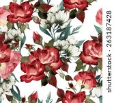 seamless floral pattern with... | Shutterstock .eps vector #263187428