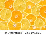 orange and lemon slice abstract ... | Shutterstock . vector #263191892