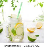 Lemonade With Ice  Lemon And...