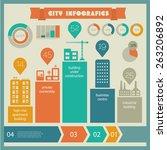 flat ui design eco city...