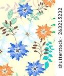 seamples flower illustration ...   Shutterstock .eps vector #263215232